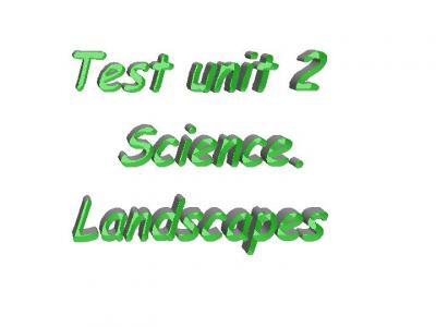Science test unit 2